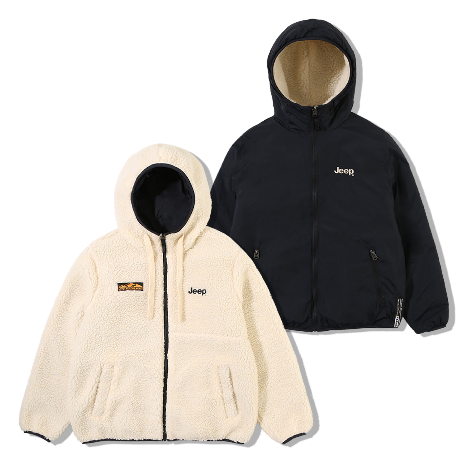 Reversible Fleece Jacket (GL5TZU422IV)